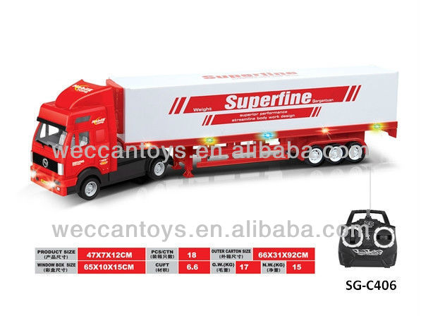SG-C406 remote control transport truck! European 5ch rc load truck with back door open