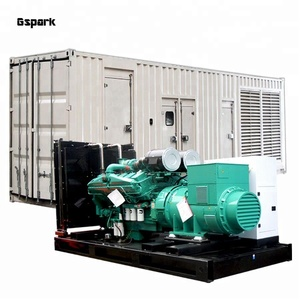 OEM Factory Price Container type 1 mw Diesel Generator with Cummins Generator KTA38-G3 Engine