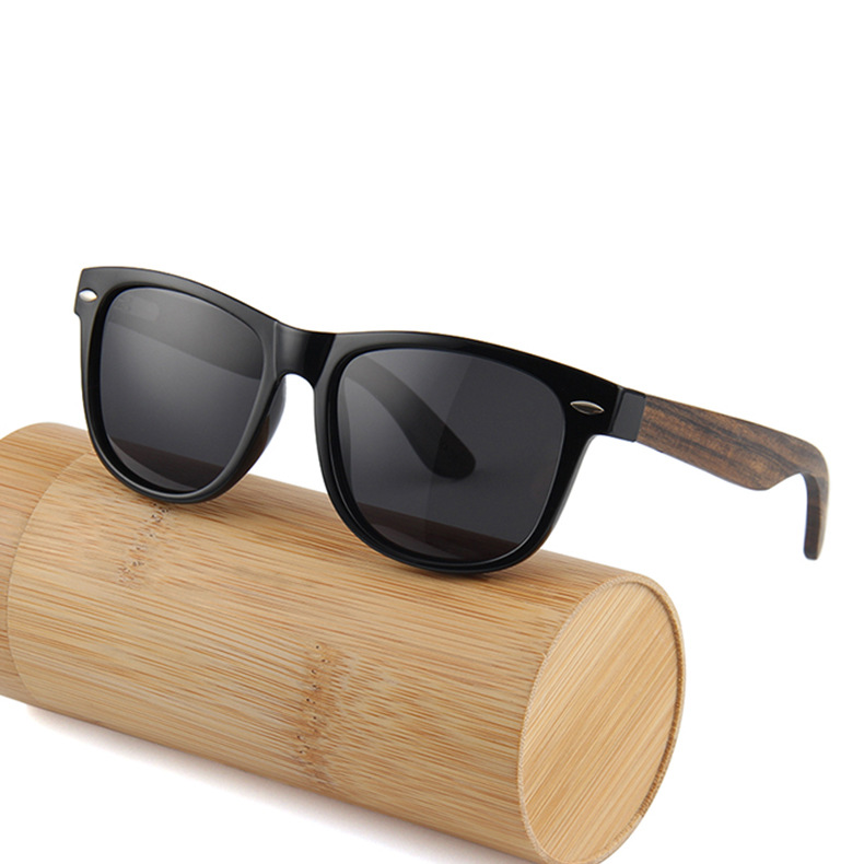 Natural Wood Sunglasses Polarized Custom With Wood Arms фото