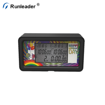 Runleader Digital LCD Green Back Light Days Event Countdown Timer With Clock