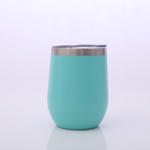 Outdoor 12 Oz Insulated Stainless Steel Wine Tumbler Sippy Cup With Lid And Straw For Wine,Coffee,Drinks,Champagne,Cocktail
