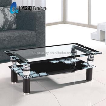 Ls-1156 A Buon Mercato Tavolino Di Vetro Di Facile Pulizia Vetro Temperato  Nero Tavolino Salotto Tavolino - Buy A Buon Mercato Tavolino Di Vetro,Di ...