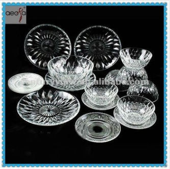 6pcs/set clear Cheap Dinner Set glass plates sets  sc 1 st  Alibaba & China Dinner Set Glass Plate Wholesale ?? - Alibaba