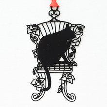 Милый Kawaii черный металлический держатель для книг с котом, креативный подарок, корейские Канцтовары, офисные и школьные принадлежности(Китай)