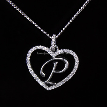 P Letter Images.Beautiful Design 925 Silver Letter P Necklace Letter Initial Necklace Buy Letter Pendant Necklace Letter Necklace Fashion Jewelry Product On