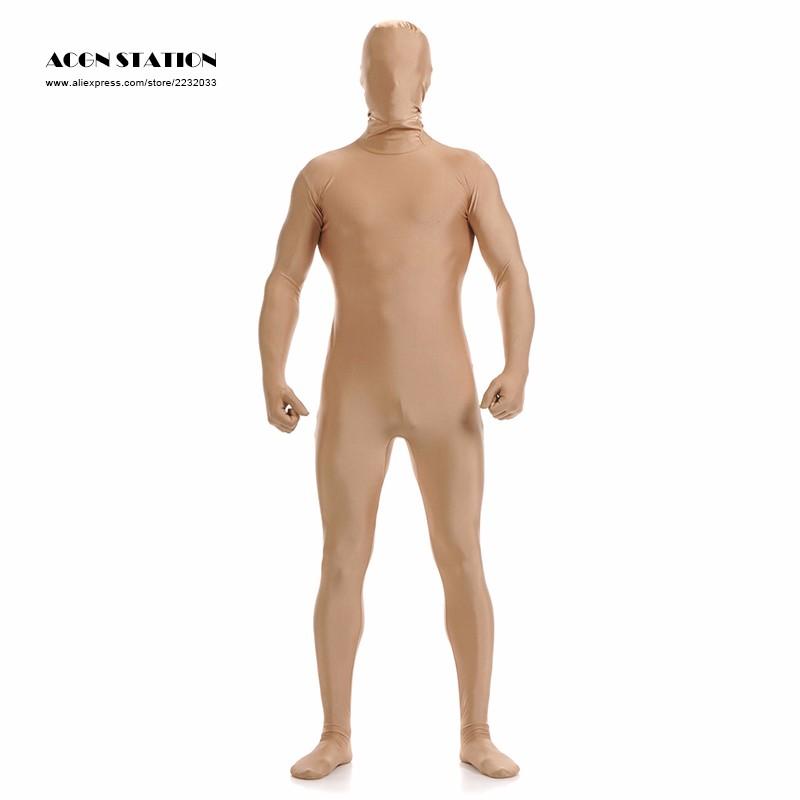 76a5b771b4a 2019 Wholesale Ainclu 2016 Nude Lycra Spandex Zentai Suit For Men ...