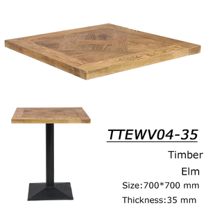 Developed simple Home and commercial solid ash wood table top table base for cafe shop