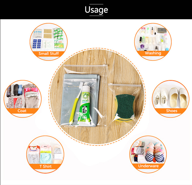 High Quality Professional Multifunction OEM waterproof documents Pouch Bag, Travel PVC ring ziplock packaging gift bags