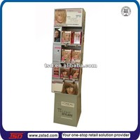 TSD-C140 hair dyes floor sidekick display/carton sidekick stand for hair dyes/cardboard floor display for hair dye products