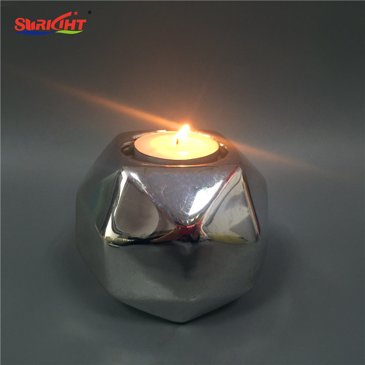 Shaped Home Decor Tealight Silver Design Candle Holder