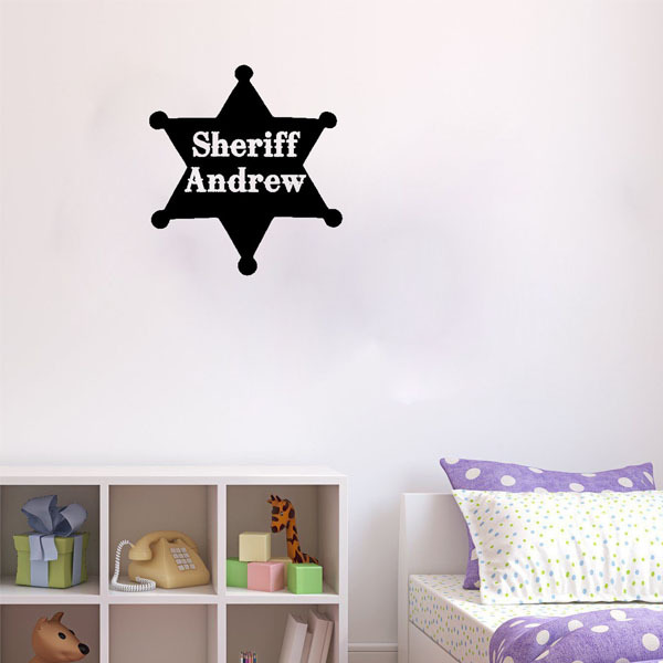 Custom MadeSheriff Toy Story Western Art  Sticker Decorative Adesivo De Parede Removable PVC Wall Decal Home Decor For Baby Room