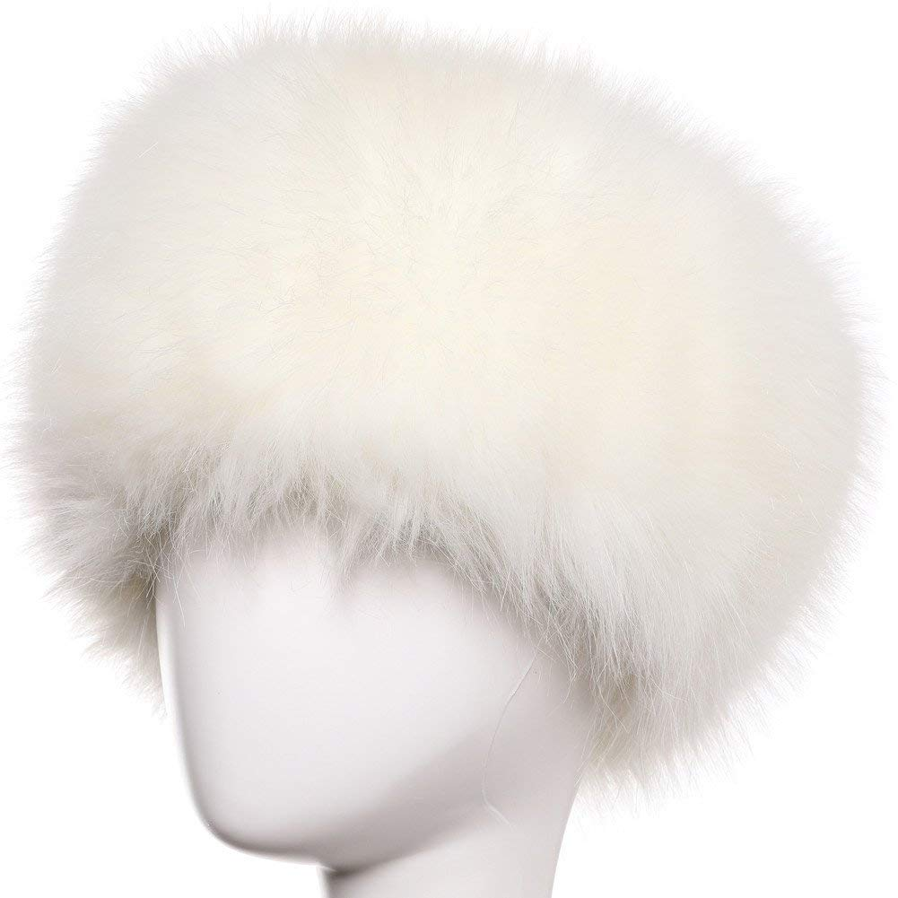 Get Quotations · Yetagoo Faux Fur Women Russian Cossack Hat for Ladies  Winter 188dab39bca3
