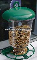 Plastic window bird feeder with transprent body