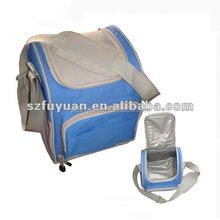 Messenger shoulder insulated lunch fitness cooler bag with long strap