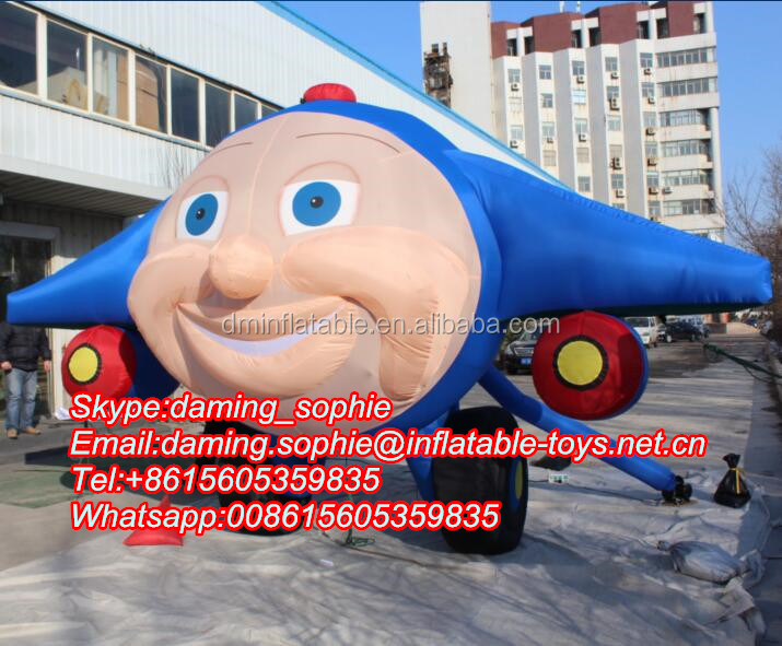 Infaltable Airplane Cartoon for Outdoors Film Promotion