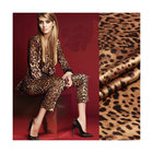 wholesale Leopard Digital printed pure silk satin fabric