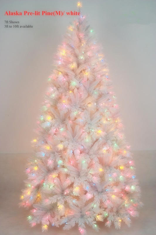 Spiral Christmas Tree White Outdoor