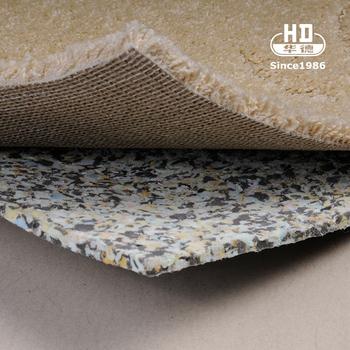 Durable Eco Friendly Colorful Striped Comfortable Memory Foam Carpet Underlay