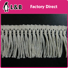 2016 Fashion 100% Cotton 8CM Panicle length Cotton Tassel Lace For Garment