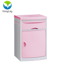 CE certificated ABS bedside table plastic medical device cabinet trolley hospital cabinets