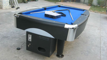 Electronic Coin Operated Billiard Tablemdf Table Pool With Metal - Electronic pool table