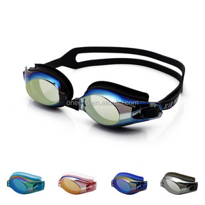 Customize Colored Lenses swim goggles for asian