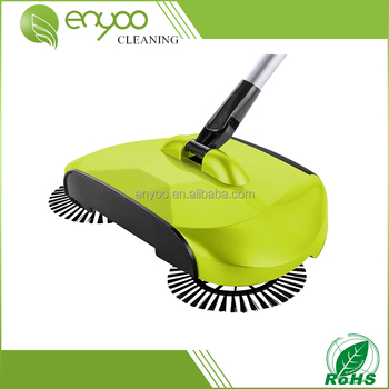 Hand Push Telescopic Natural Sweep Dual Cordless Floor And Carpet Dust  Sweeper,floor Scrubber,