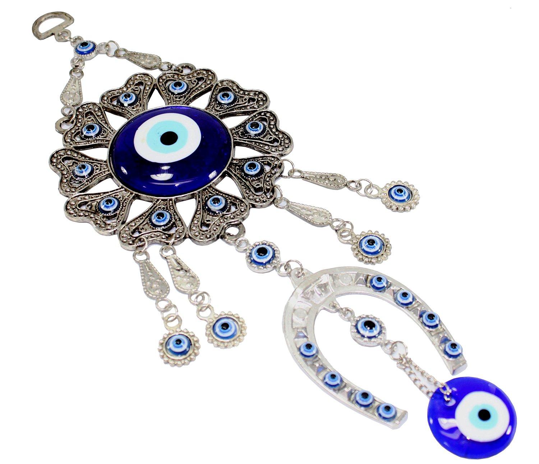 Buy Turkish Blue Evil Eye (Nazar) Horse Shoe Amulet Wall