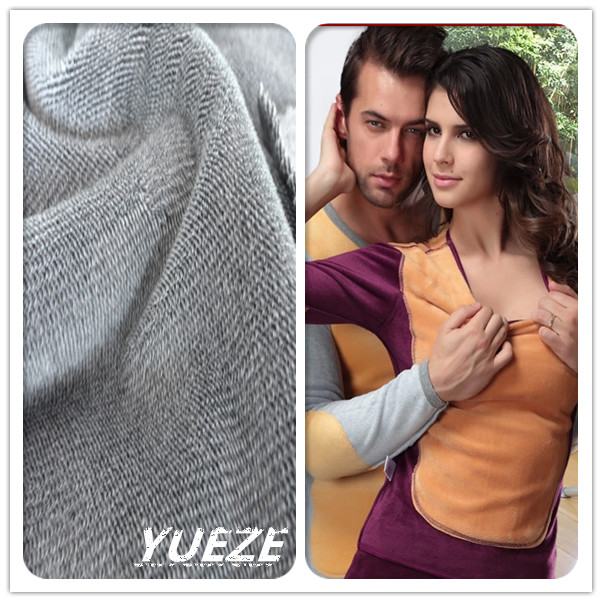 2014 hot sale thermal knit fabric for thermal underwear