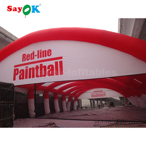 20 x10 inflatable paintball tent , inflatable paintball arena with cover for bunker game