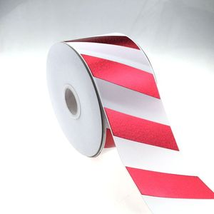 wholesale 3 inch 75mm red holohram grosgrain ribbon ,new arrivals