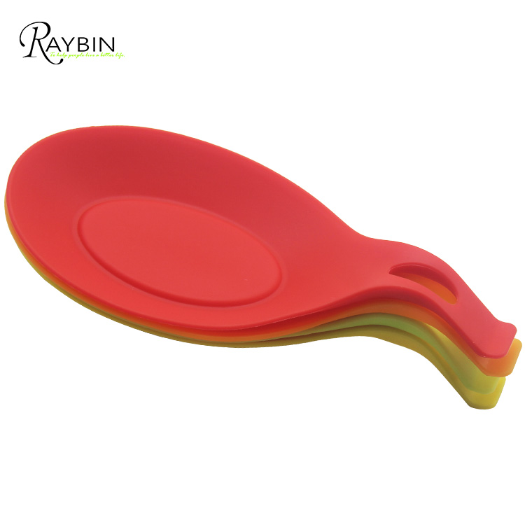 Hot Sale Non Stick Kitchen Silicone Spoon Rest Holder For