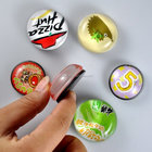 Made in China custom cheap button glass souvenir fridge magnets