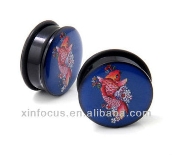 Japanese koi fish acrylic single flare rubber band o ring for Japanese koi fish wholesale