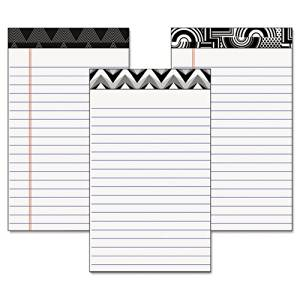TOPS Fashion Legal Pads with Assorted Headtapes, 5 x 8 Inches, Perforated, Narrow Rule, 50 Sheets per Pad, 6 Pads per Pack (30491)
