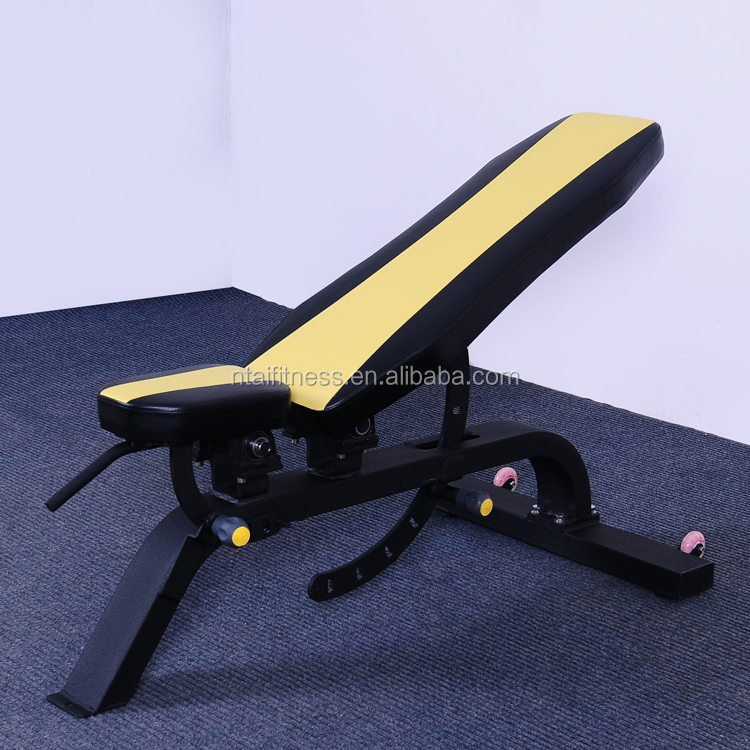GYM weight lifting multi-function adjustable bench