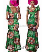 OEM Factory African Print Maxi Dress Beautiful Design Kitenge African Long Dress