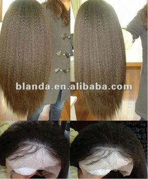 Pop Yaki Straight Style Lace Frontal Hair