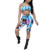 Women's Sexy Printed Halter Bikini Set Swimsuit Top Two Piece Bodycon Rompers Suit Swimwear