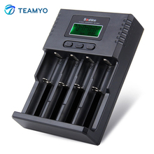 New Arrival Soshine H4 Li-ion NiCd NiMh LCD Digital Intelligent 4-Slot Battery Charger with EU / US Adapter Car Cable 100- 240V