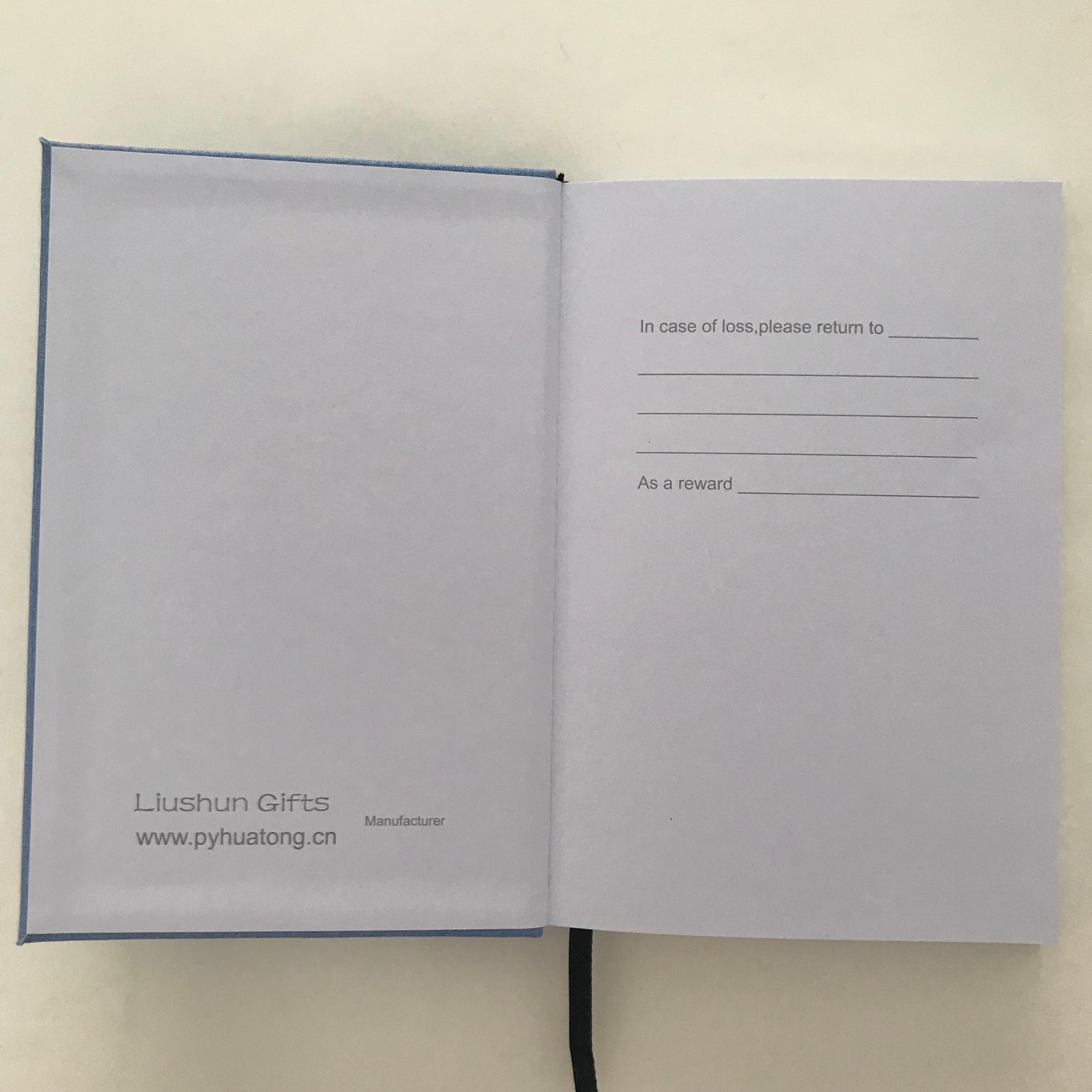 A5 ufficiale commercio all'ingrosso hardcover notebook