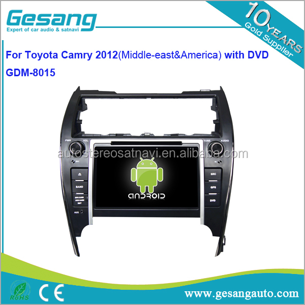 Gesang Auto DVD GPS for TOYOTA Camry 2012 ( Middle - east & America ) with GPS map and camera