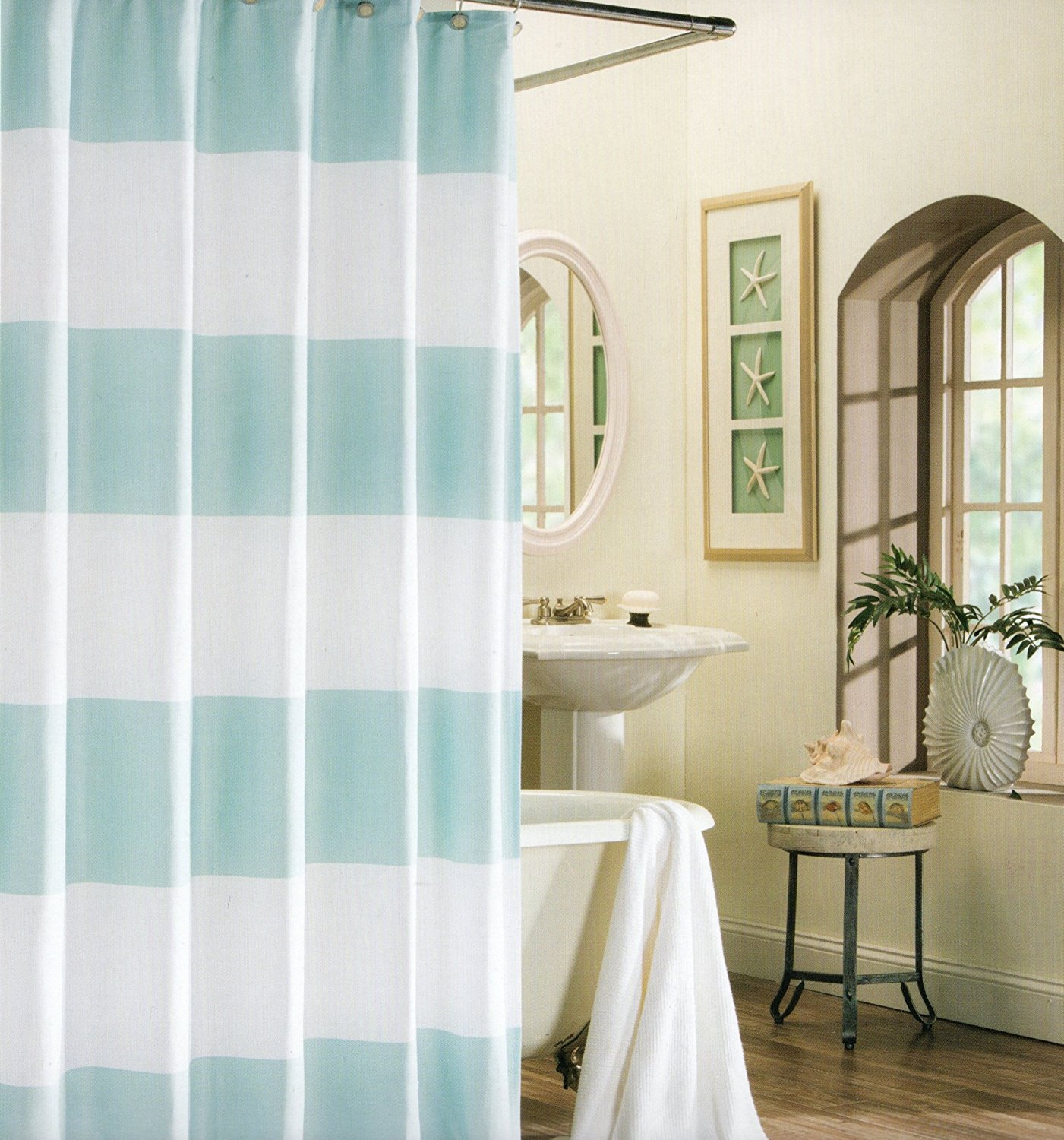 Buy Max Studio 100 Cotton Shower Curtain Wide Stripes