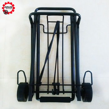 3012c618bf29 2 Wheel Metal Folding Hand Cart Luggage Trolley For Airport - Buy Foldable  Hand Trolley,Metal Trolley With Wheels,Lightweight Luggage Trolley Product  ...