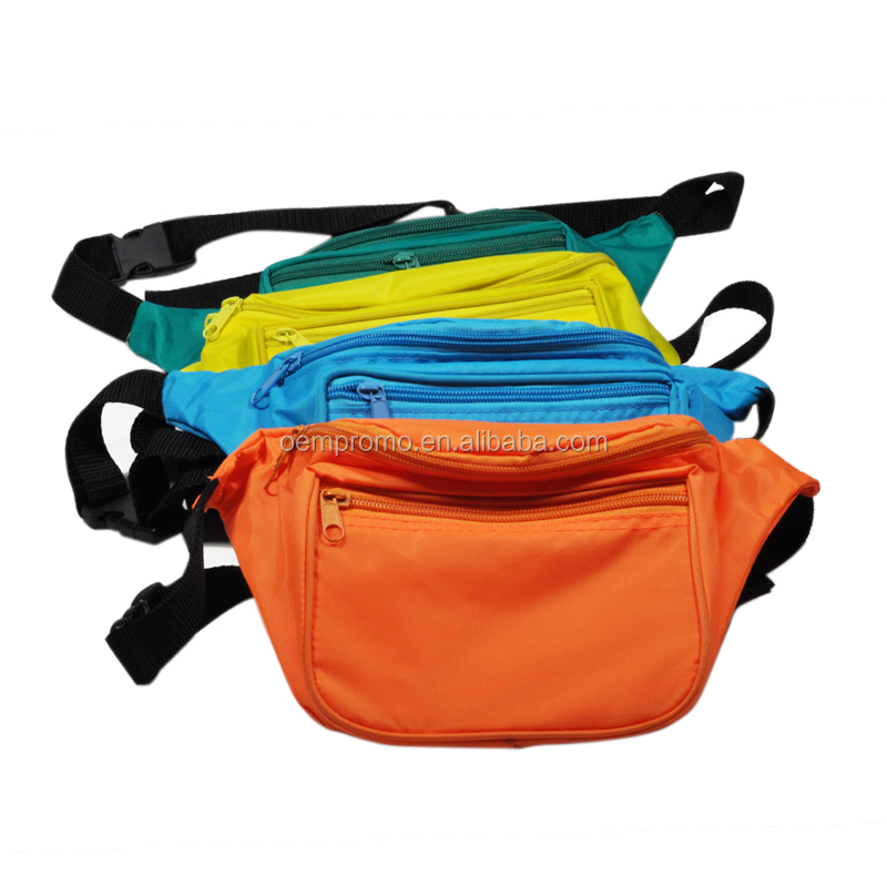 PROMO Custom Design Multi-colors 3 zippers Sport Fanny Pack