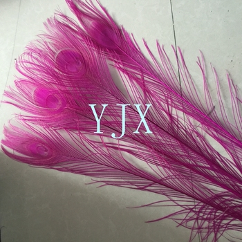 100 120cm Chinese Supplier Wholesale Artificial Peacock Feathers For