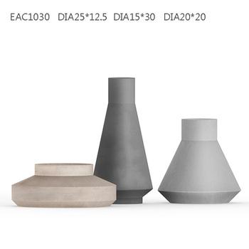 Beton atau semen bunga pot tanaman hias dalam ruangan besar geometris beton  pekebun a72c05d946