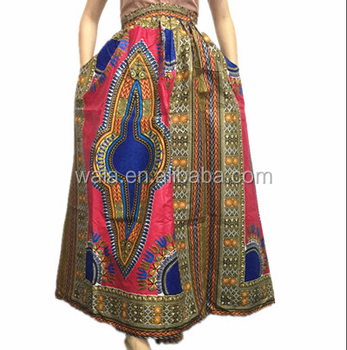 Hot Sale Dashiki African Skirts New Arrival Wax Printed Clothes For Stunning African Skirts Patterns