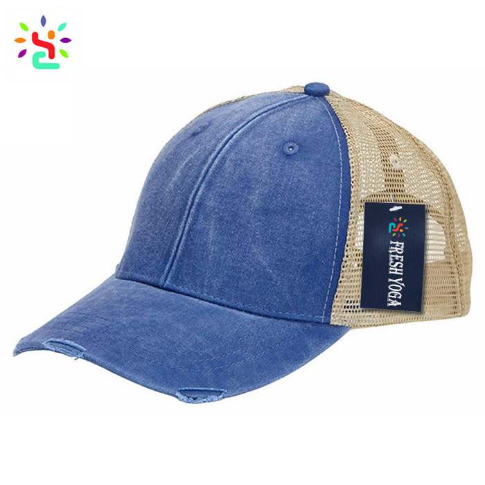 a2df8129799c3 Wholesale blank trucker hats mesh trucker hat pigment dyed distressed  trucker cap 6 panel hat cap