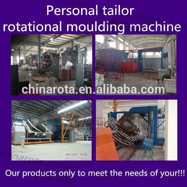 3 arm water tank rotation molding machines aluminum leg plastic chair mould